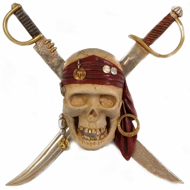 Pirate's Skull w/Swords Hanging Decor - Click to enlarge