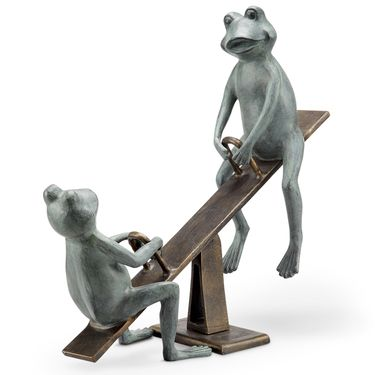 Playground Frogs Garden Statue - Click to enlarge