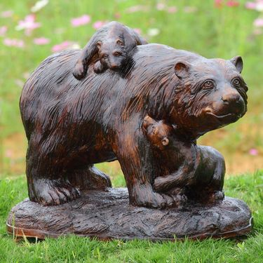 Playtime Bears Garden Sculpture - Click to enlarge