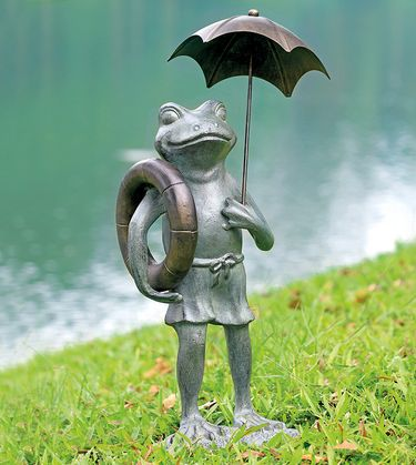 Pool Partner Frog Garden Sculpture - Click to enlarge
