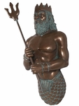 Poseidon (Neptune) Wall Decor - Verde Bronze Finish