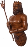 Poseidon (Neptune) Wall Decor - Wood Finish
