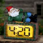 Pot Smoking Gnome w/LED 4:20 Clock - Battery w/Timer