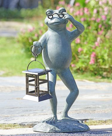 Professor Frog Solar LED Garden Lantern - Click to enlarge