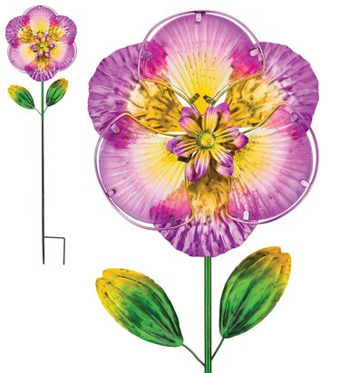 Purple Isabel Glass Flower Stake - Click to enlarge