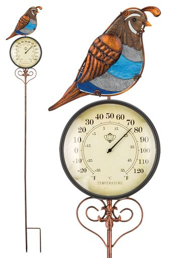 Quail Thermometer Stake - Click to enlarge