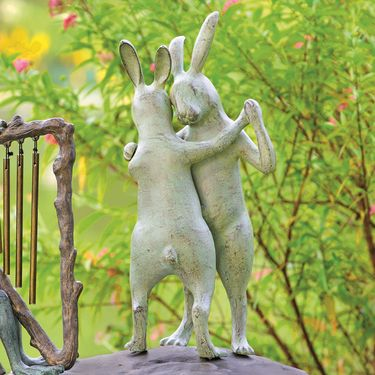 Rabbit Romance Garden Statue - Click to enlarge