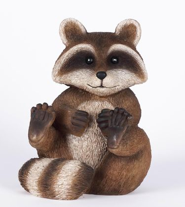 Raccoon Sitting Statue - Click to enlarge