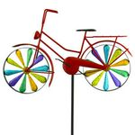 Rainbow Bicycle Spinner Stake