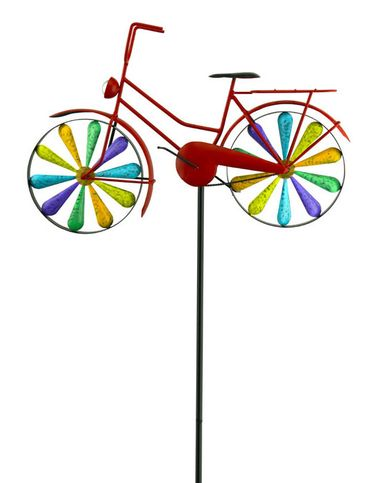 Rainbow Bicycle Spinner Stake - Click to enlarge