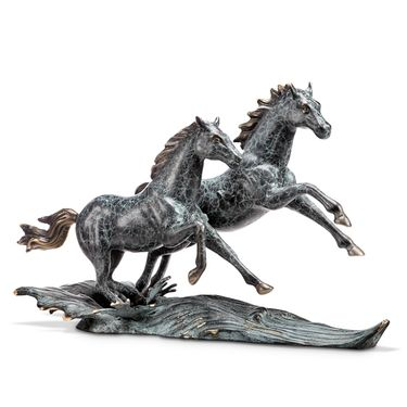 Range Runner Brass Horses - Click to enlarge