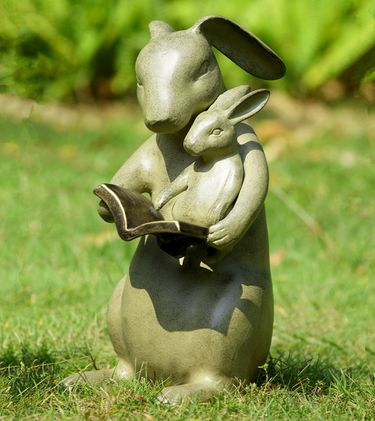 Reading Rabbits Garden Sculpture - Click to enlarge