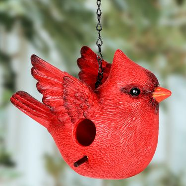Red Cardinal Bird House - Click to enlarge