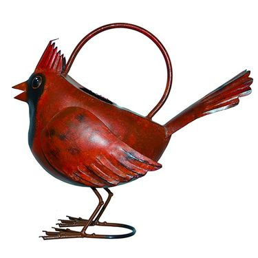Red Cardinal Watering Can - Click to enlarge