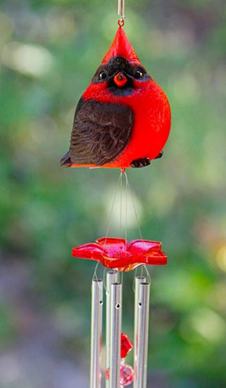 Audubon Red Cardinal Wind Chime - Click to enlarge