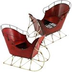 Red Iron Antique Display Sleighs (Set of 2)
