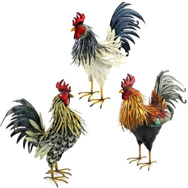 Large Assorted Roosters (Set of 3) - Click to enlarge