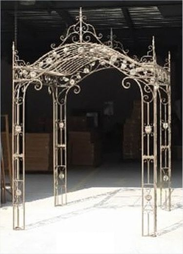 Regal Arched Garden Gazebo - Antique White - Click to enlarge