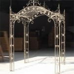 Regal Arched Garden Gazebo - Antique White