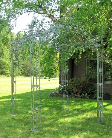 Regal Arched Garden Gazebo - Verdi Green - Click to enlarge