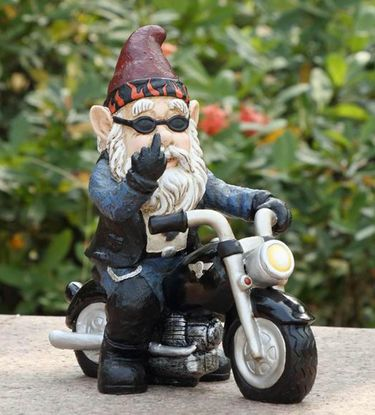 Road Rage Biker Gnome - Click to enlarge