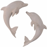 Roman Stone Dolphin Wall Decor (Set of 2)
