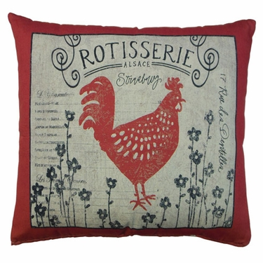 Rooster Rotisserie Outdoor Pillow - Click to enlarge