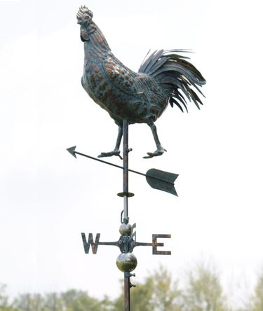 Rooster Weathervane - Copper Patina  - Click to enlarge
