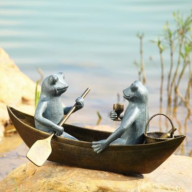 Rowboat Picnic Garden Sculpture - Click to enlarge