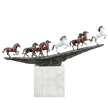 Running Mustangs on Marble Base Sculpture - Click to enlarge