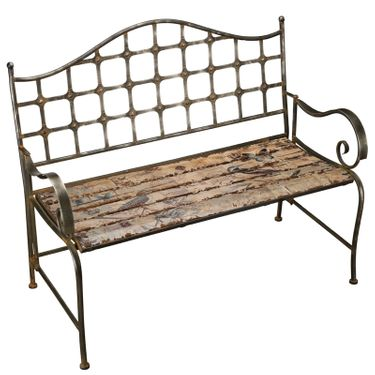 Rustic Bird Bench - Click to enlarge