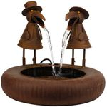 Rustic Birds Metal Fountain