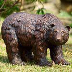 Rustic Finish Garden Bear