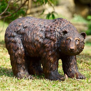 Rustic Finish Garden Bear - Click to enlarge