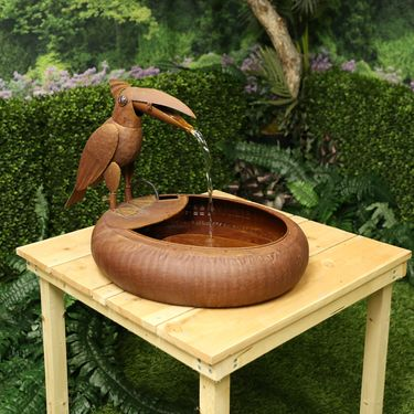 Rustic Toucan Metal Fountion - Click to enlarge