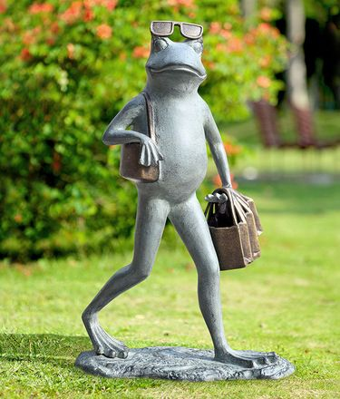 Saavy Shopper Frog Sculpture - Click to enlarge