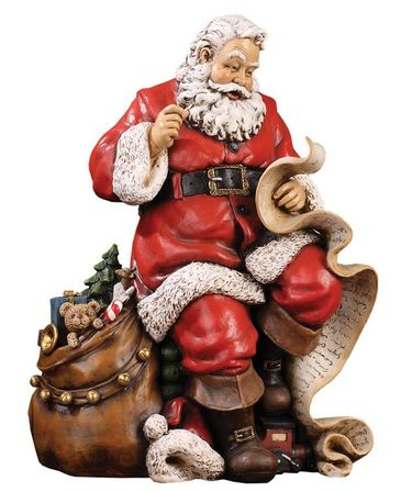 Santa Claus Checking List Statue - Click to enlarge