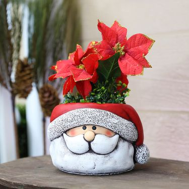 Santa Claus Flower Pots (Set of 4) - Click to enlarge