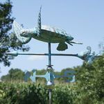 Sea Turtle Weathervane - Copper Patina
