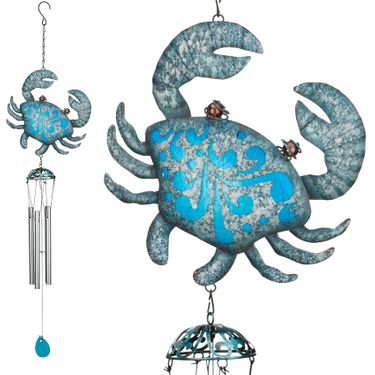 Seaside Crab Wind Chimes (Set of 2) - Click to enlarge