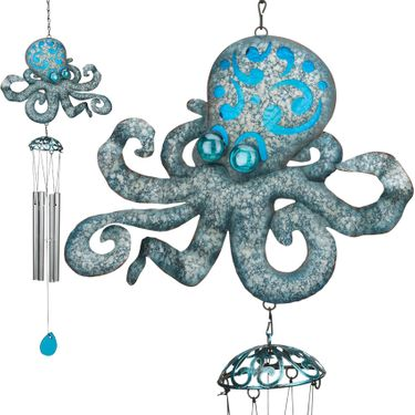 Seaside Octopus Chimes (Set of 2) - Click to enlarge