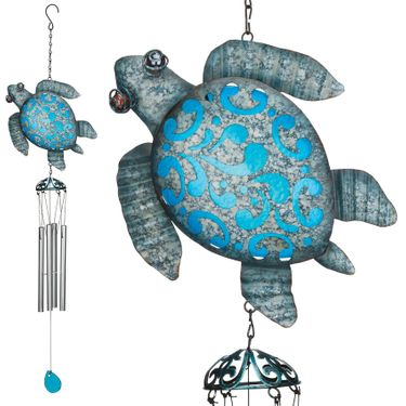 Seaside Turtle Wind Chimes (Set of 2) - Click to enlarge