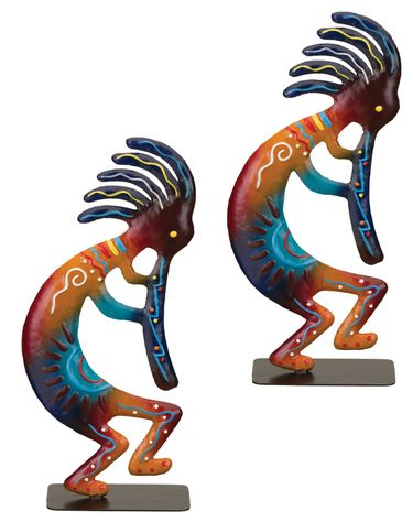 Sedona Kokopelli Statues (Set of 2) - Click to enlarge