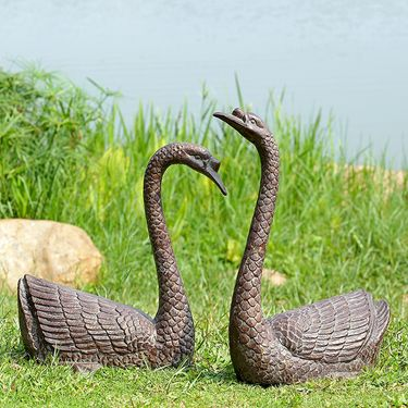Serene Swans Garden Sculpture - Click to enlarge