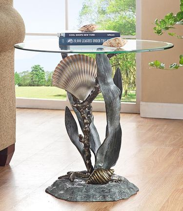 Shells & Sea Grass End Table - Click to enlarge