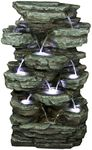 Slab Rock Cascading Fountain w/LED Lights
