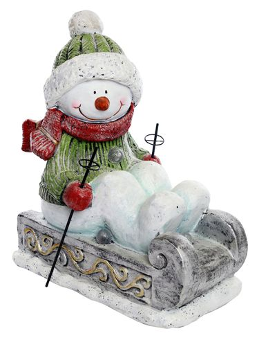 Sledding Snowman w/Color Changing LEDs - Click to enlarge