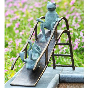 Sliding Frogs Garden Sculpture - Click to enlarge