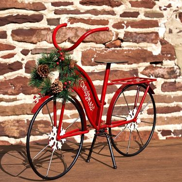 Small Christmas Bicycle Decor - Click to enlarge