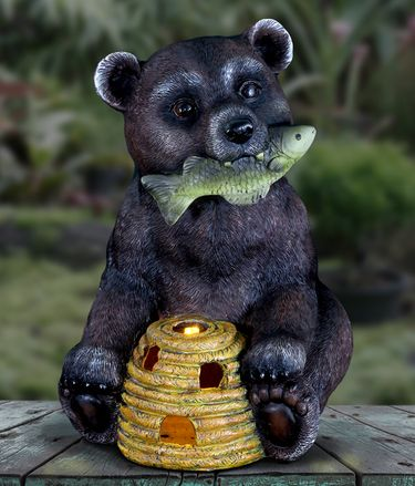 Solar Bear with Fish & Beehive - Click to enlarge